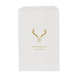 Love Antlers Printed Flat Paper Goodie Bag (set of 25)