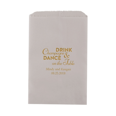 Champagne & Dance Printed Flat Paper Goodie Bag(set of 25)