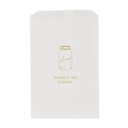 Mason Jar Love Printed Flat Paper Goodie Bag (set of 25)
