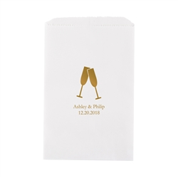 Champagne Flutes Printed Flat Paper Goodie Bag(set of 25)