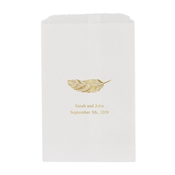 Feather Whimsy Printed Flat Paper Goodie Bag (set of 25)