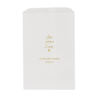 Once Upon A Dream Printed Flat Paper Goodie Bag (set of 25)