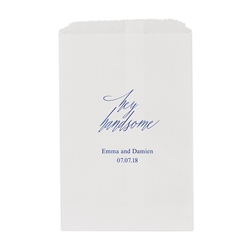 """Hey Handsome"" Printed Flat Paper Goodie Bag (set of 25)"
