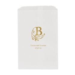 Modern Fairy Tale Initial Printed Flat Paper Goodie Bag (set of 25)