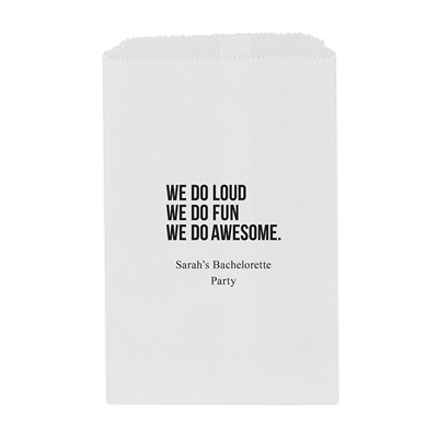 We Do Awesome Printed Flat Paper Goodie Bag (set of 25)