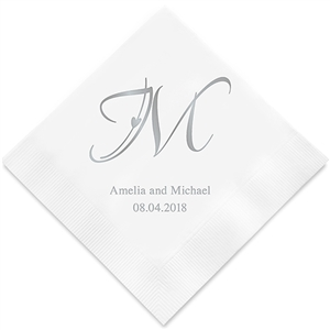 Decorative Initial Personalized Napkins