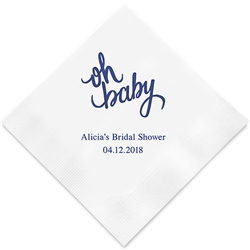 """oh Baby"" Printed Napkins (Set of 100)"