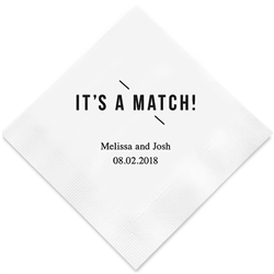 It's A Match! Printed Napkins