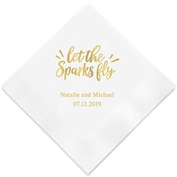 Let The Sparks Fly Printed Napkins