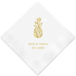 Tropical Pineapple Printed Napkins