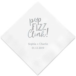 Pop Fizz Clink Printed Paper Napkins