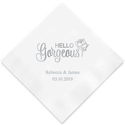 Hello Gorgeous Printed Paper Napkins