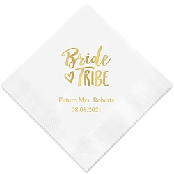 Bride Tribe Printed Napkins