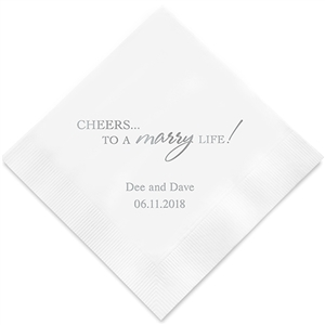 """Cheers to a marry Life""  (Set of 100)"