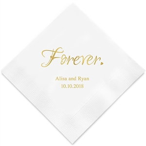Forever. Personalized Napkins