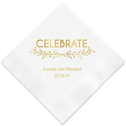 Woodland Pretty Celebrate Printed Napkins (Set of 100)