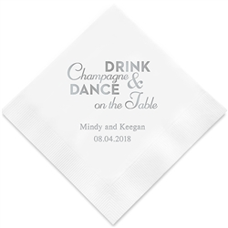 Champagne & Dance Printed Napkins(set of 100)