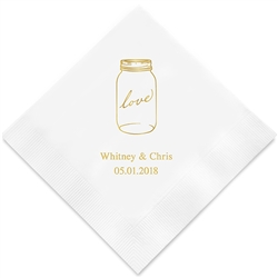Mason Jar Love Printed Napkins