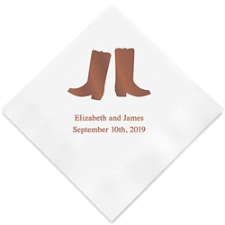Western Boots Printed Napkins(set of 100)
