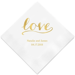 Love Signature Printed Napkins