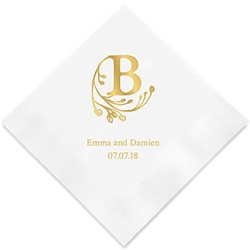 Modern Fairy Tale Initial Printed Napkins