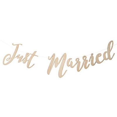 Just Married Wooden Wedding Banner