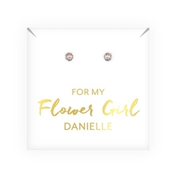 Crystal Or Pearl Stud Earrings - Flower Girl Design