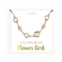 Swarovski Crystal Children's Flower Bracelet - Be My Flower Girl? Design