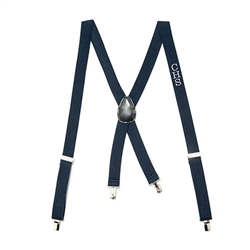 Men's Custom Monogrammed Tuxedo Suspenders Wedding Attire - Navy