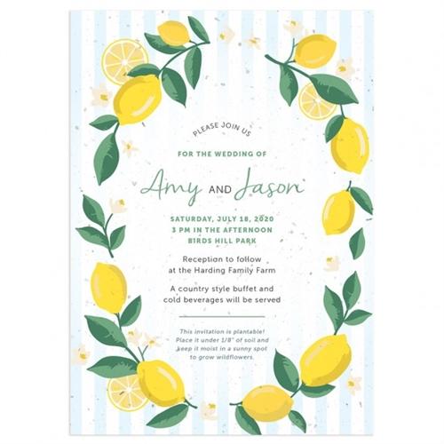 Lemons Seed Paper Wedding Invitations On Sale At The Wedding